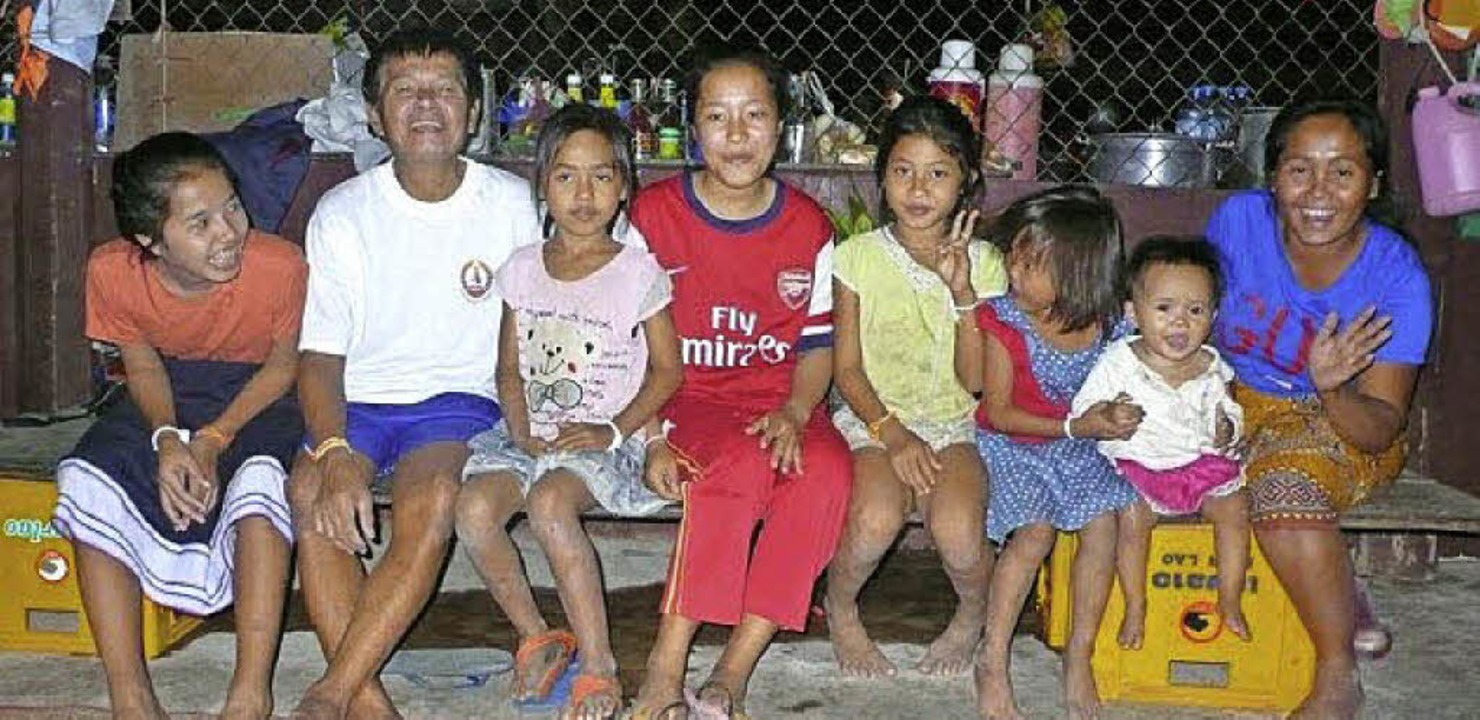 Gastfreundlich: Familie Soukhsan auf der Insel Don Khon/Laos  | Foto: Jutta Bissinger/Olaf Baier