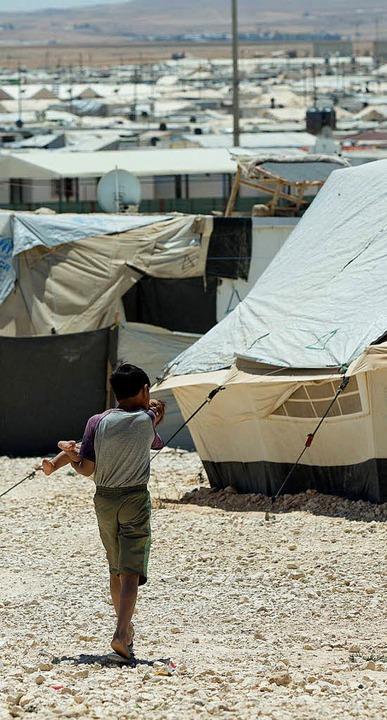 Steinmeier besucht Flüchtlingslager in Jordanien    Foto: Jörg Carstensen