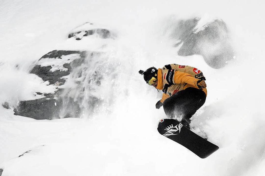 Ein Snowboarder in seinem Element. (Symbolbild)  | Foto: AFP