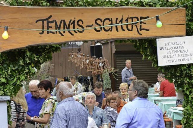 Bei Waltershofens Wein- und Dorffest gab es ein großes Wiedersehen