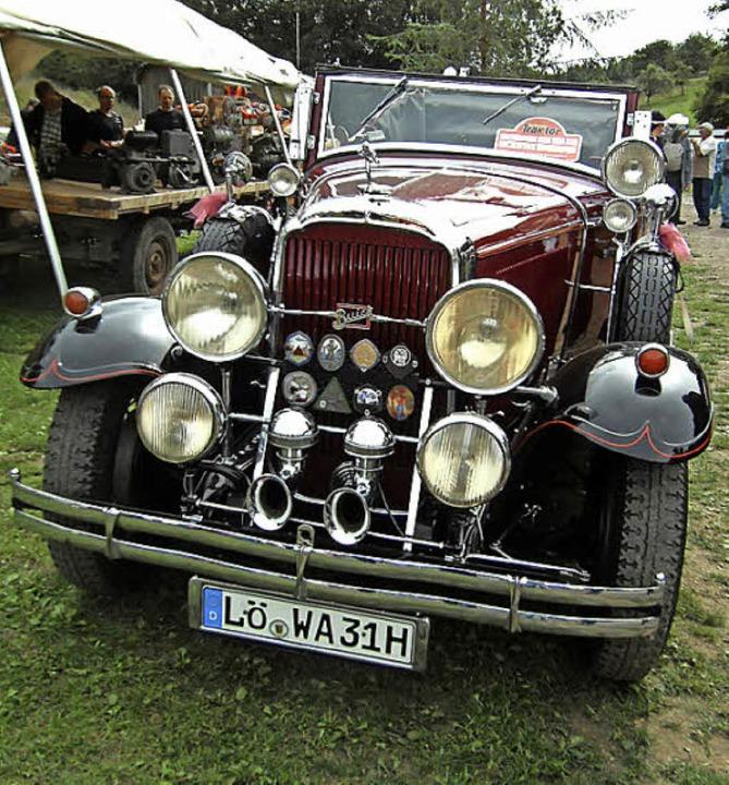 Blickfangin Dossenbach: der Buick aus dem Jahr 1931  | Foto: Ernst Brugger