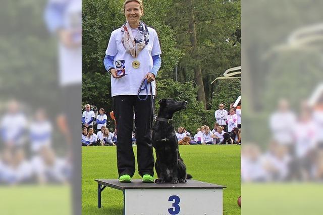 Bronze für Hund und Frauchen