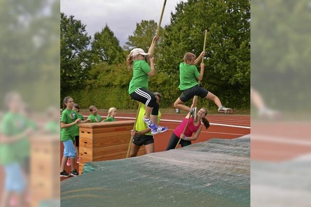 Hoch hinaus wollten die Kinder beim Sportcamp