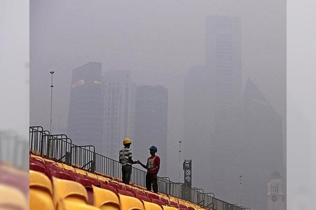 Wenn der Rauch die Skyline verdeckt