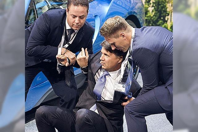 BMW-Chef Krüger kippt um