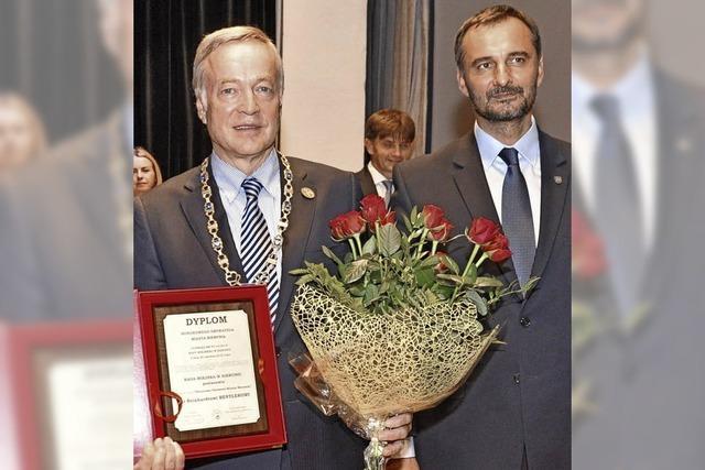 Reinhard Bentler ist Ehrenbürger von Bierun