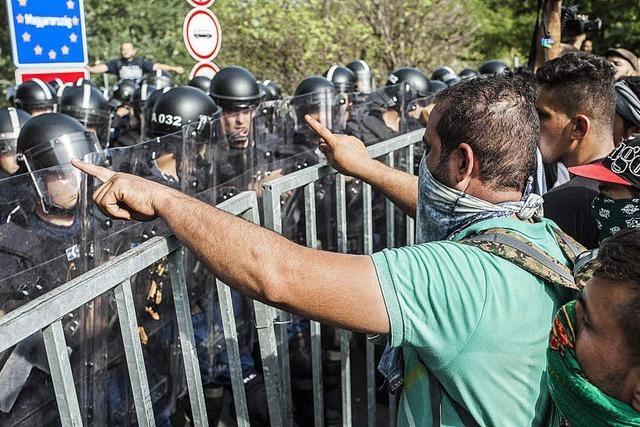 Tumulte an Ungarns Grenze