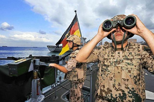 Deutsche Soldaten sollen im Mittelmeer Schleuser festsetzen