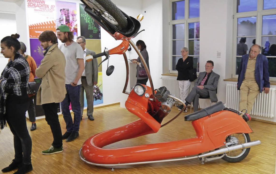 Bevor die Künstler am Wochenende in ih... Ausstellung der Städtischen Galerie.     Foto: Heidi Ast