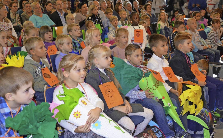 78 Erstklässler beginnen an der  Julius-Leber-Schule ihre Schullaufbahn.   | Foto: Sebastian Scheffel