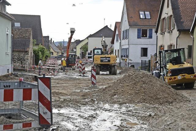 Leitungsbau in Sasbach