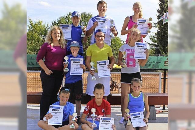 Tennisclub kürt Jugendmeister