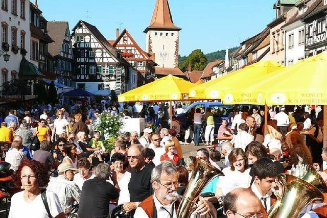 Wein- und Stadtfest in Gegenbachs Altstadt