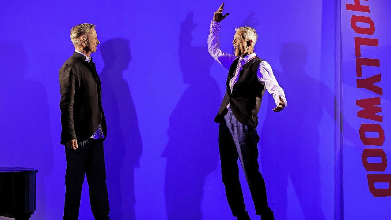 Kleine Bühne, große Geste: Herbert Wolfgang (li.) und Leopold Kern   | Foto: doreen Eich