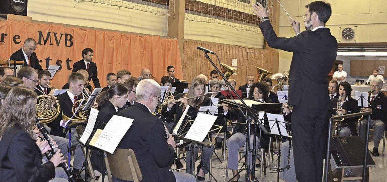Der Musikverein Bleichheim gab beim Fe...n Bestehen Kostproben seines Könnens.   | Foto: Jörg Schimanski