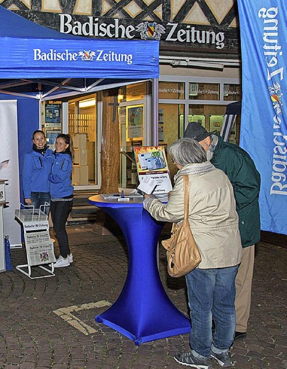 Auch die BZ war mit einem Team und mit Aktionen dabei.  | Foto: Olaf Michel (Bilder-Michel.de)