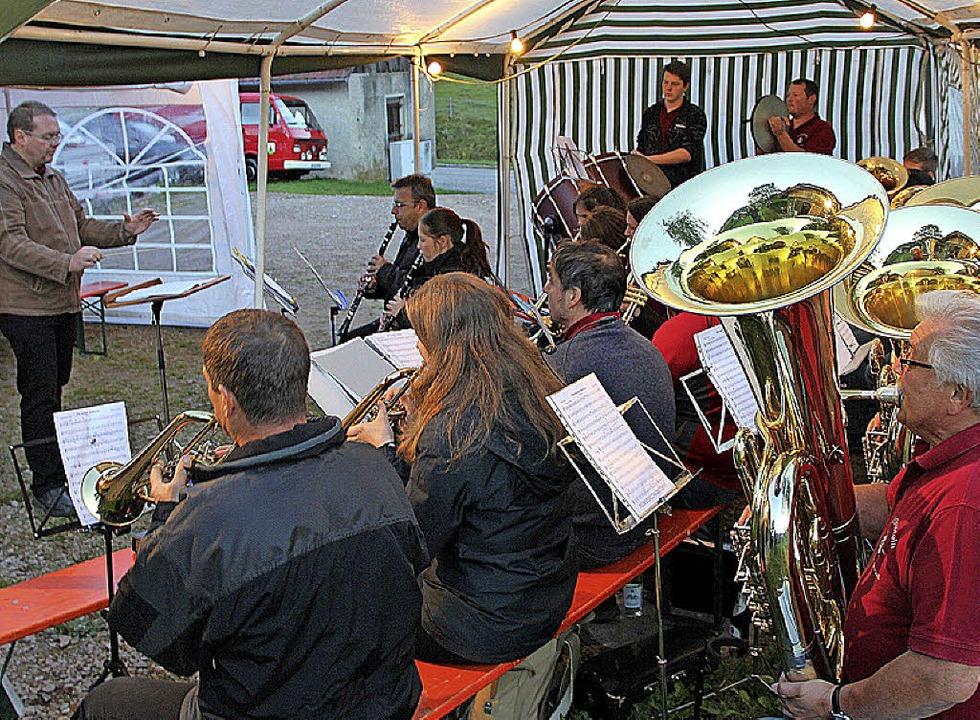 Zum letzten Male bei einem Platzkonzer...Musikverein Edelweiß Malsburg-Marzell.    Foto: Rolf-Dieter Kanmacher