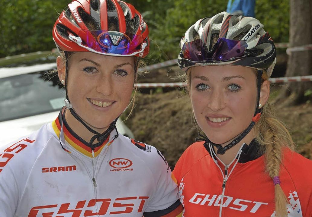 Schnelle Schwestern: Helen (links) und Hannah Grobert   | Foto: Hrvoje Miloslavic