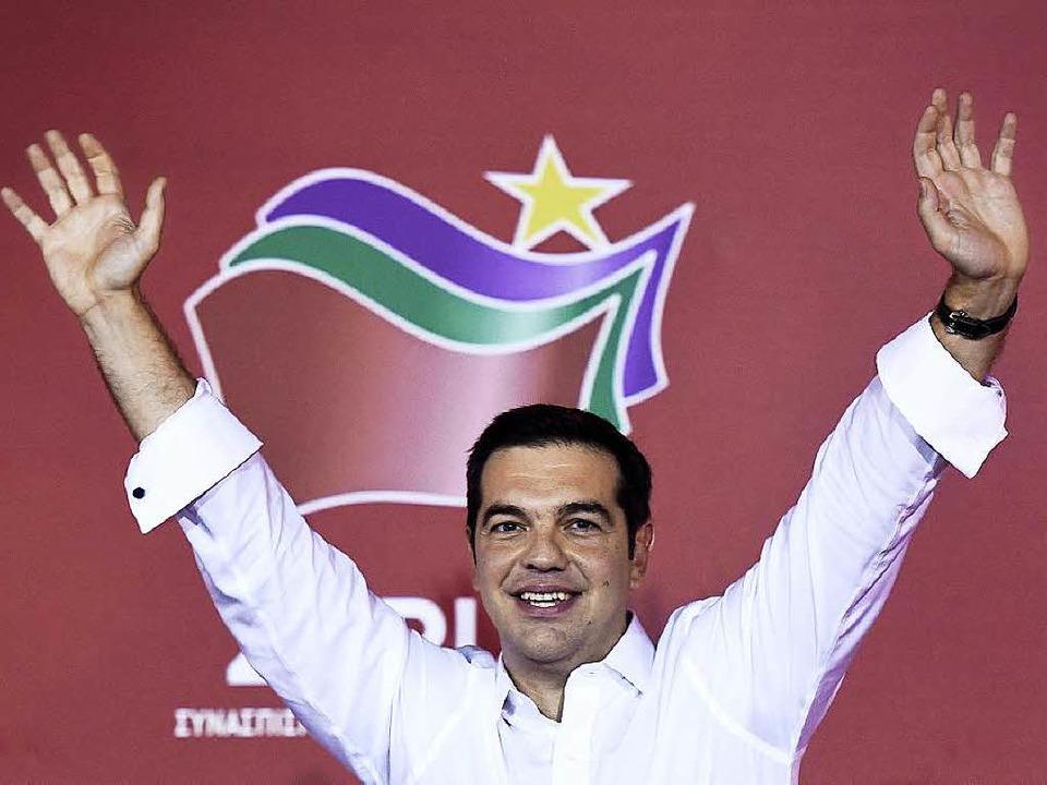 Tsipras will wieder mit Rechtspopulisten koalieren.  | Foto: AFP
