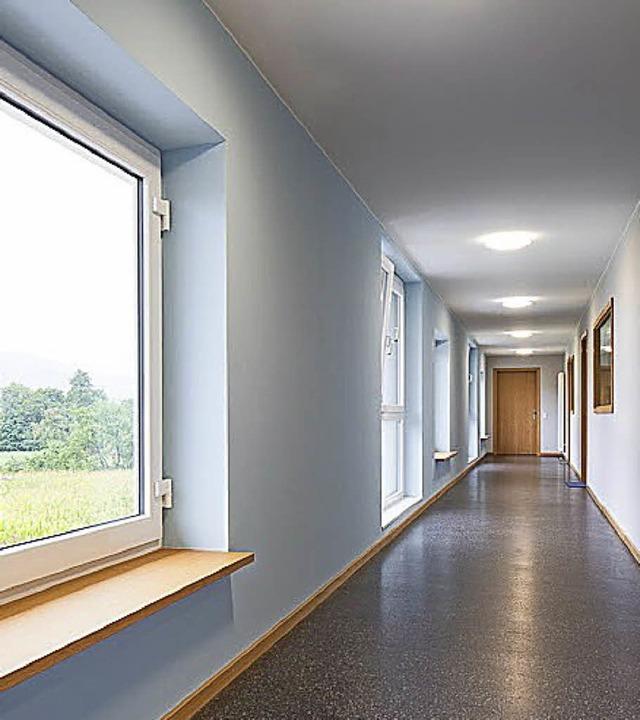 Weite Flure und Blick ins Grüne im neuen Wohnheim  | Foto: Bauverein Breisgau