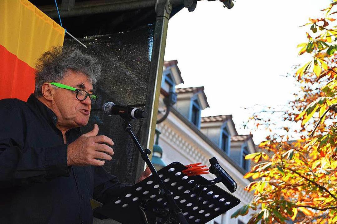 Revolutionsredner Volkmar Staub  | Foto: Barbara Ruda