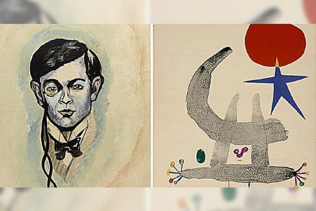 Werke von Tristan Tzara im Straßburger Museum für moderne und zeitgenössische Kunst