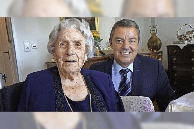 Lilo Schäfer feierte ihren 100. Geburtstag