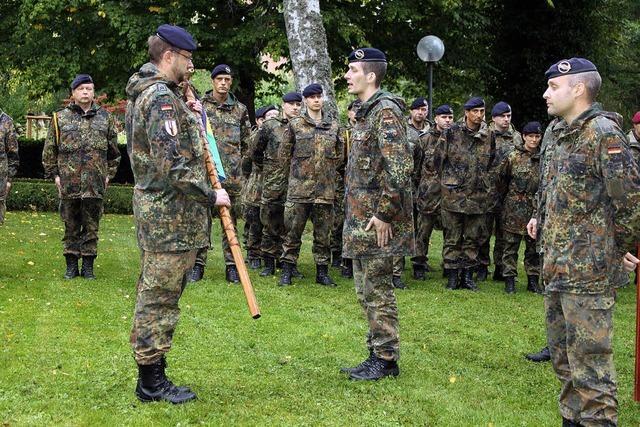 Kommandoübergabe im Schlossgarten