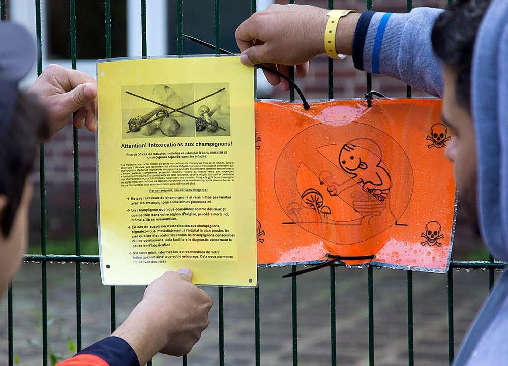 Infos für Flüchtlinge in Münster     Foto: dpa