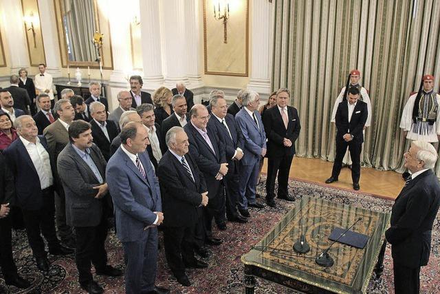Tsipras setzt auf Kontinuität