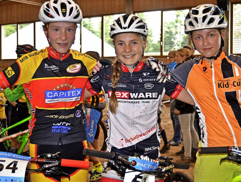 Beim Kids-Cupfinale in St. Märgen fuhr...(links) und Antonia Enderlin zum Sieg.    Foto: junkel