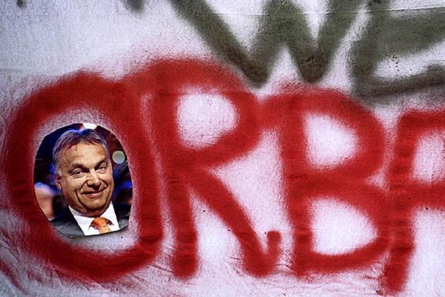 Grüne und SPD protestieren gegen Orban