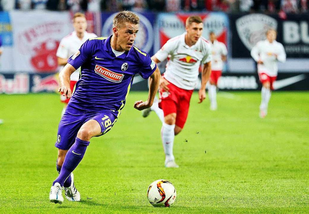 Stürmer Nils Petersen traf für den SC, am Ende stand es 1:1.  | Foto: dpa