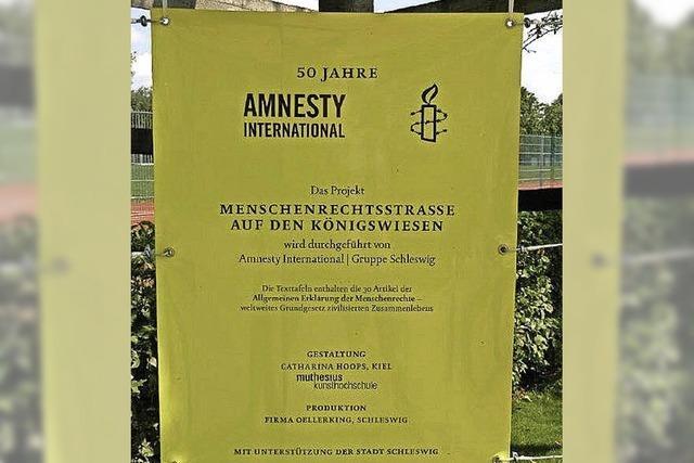 Menschenrechte dürfen nicht hängen