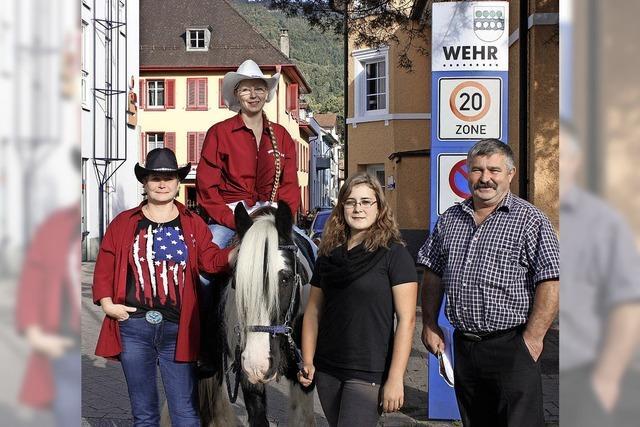 Einkaufen am Tag des Pferdes