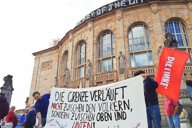 Zeichen gegen rechte Hetze in Freiburg