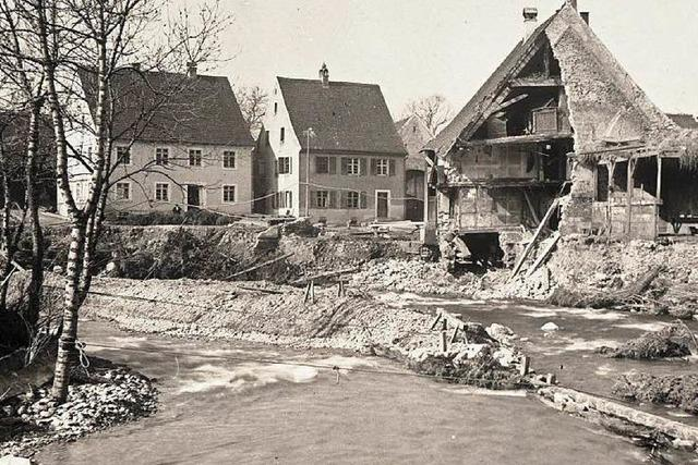 1896: Jahrhunderthochwasser im Dreisamtal