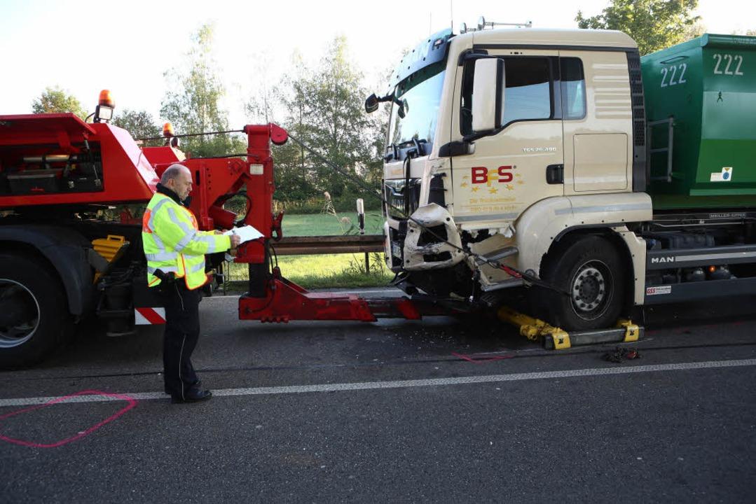 Unfall auf der B33 bei Gengenbach  | Foto: Christoph Breithaupt