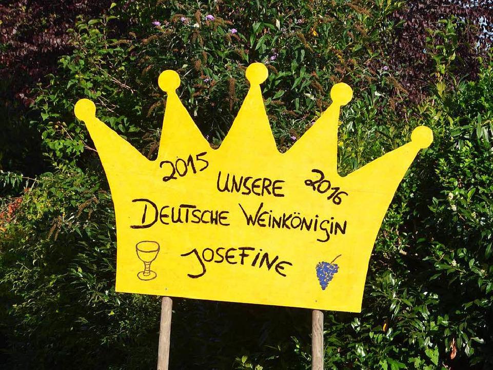 Willkommensgruß am Ortseingang von Laufen    Foto: sigrid umiger