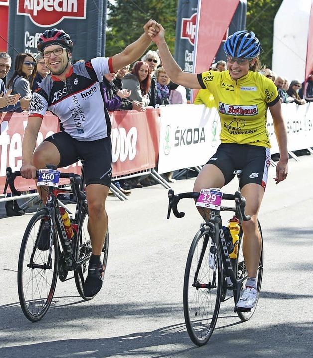 Sieger waren sie alle beim Riderman. A... Anne Falk vom ASC Konstanz (rechts).   | Foto: müller