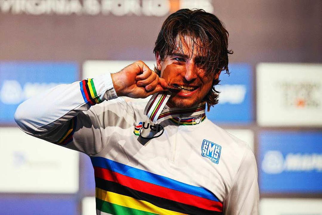 Der neue Weltmeister Peter Sagan    Foto: AFP