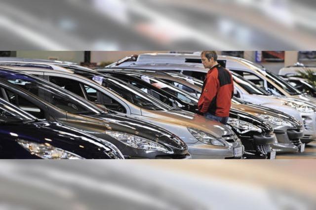 Autohändler präsentieren 600 Gebrauchtwagen auf der Messe