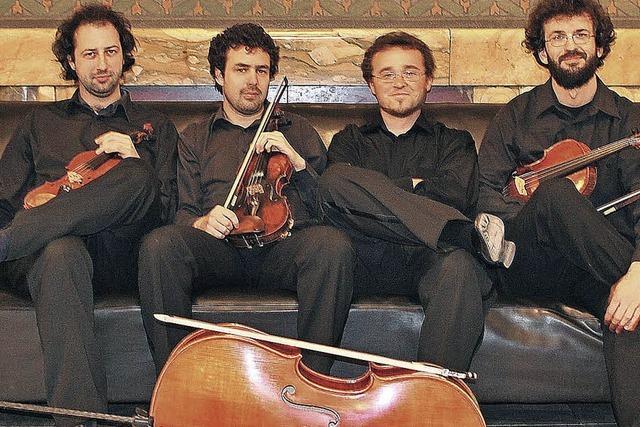 Das Tiberius-Quartett spielt auf Schloss Beuggen