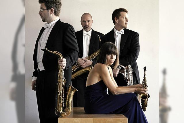Das Raschèr Saxophone Quartet mit Orgel in der Freiburger Kirche St. Blasius