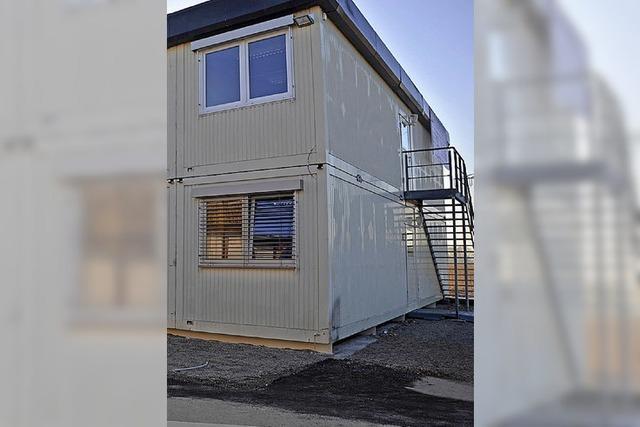 Grüne fordern Häuser statt Container