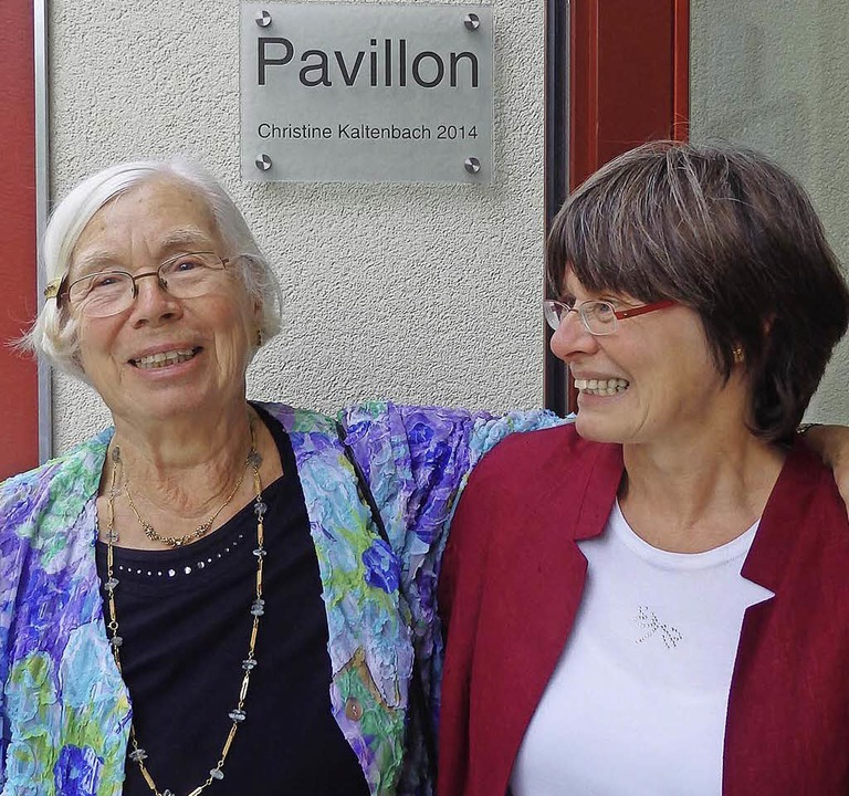 Der Pavillon trägt den Namen von  Init... Tochter Beatrice Kaltenbach-Holzmann.  | Foto: Johanna Hoegg