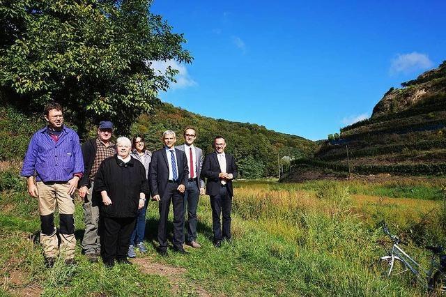Abgeordnete besuchten Weingut Vogel in Oberbergen