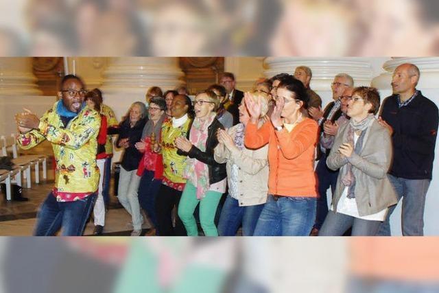 Eine Feier mit viel Rhythmus, Tanz und Gesang