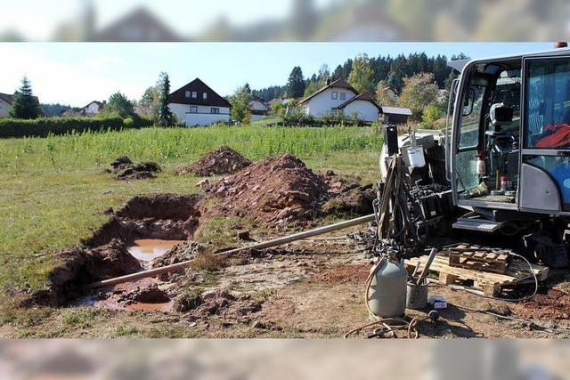 Das Baugebiet mit Erdöltechnik erschließen