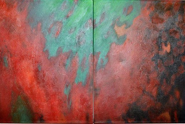Kontrastfreudige Farbraum-Malerei
